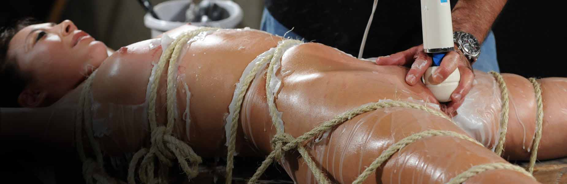 Hot Wax and Shibari Rope Bondage